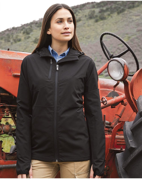 DRI DUCK Women's Ascent Hooded Soft Shell Jacket-DRI DUCK-Pacific Brandwear