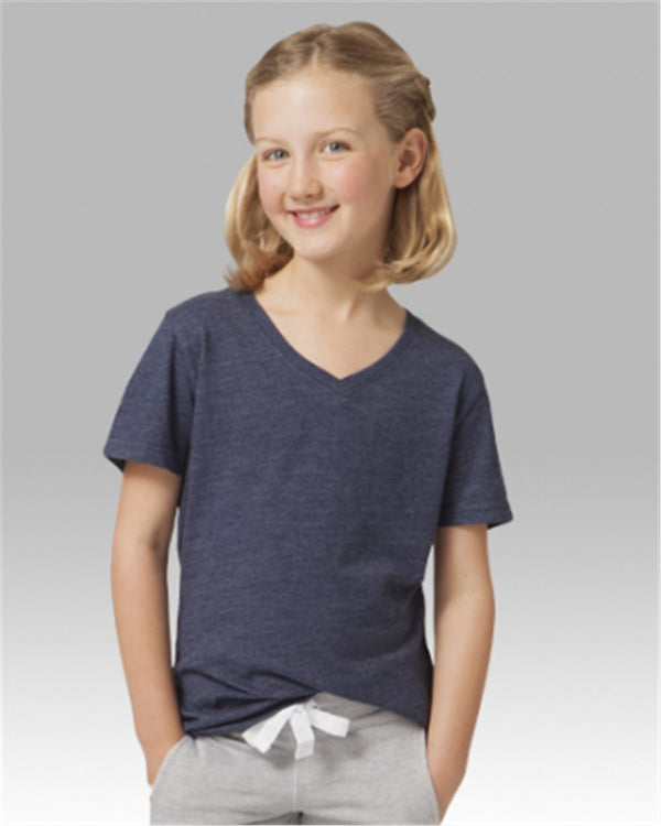 Girls' Relaxed V-Neck T-Shirt-Boxercraft-Pacific Brandwear