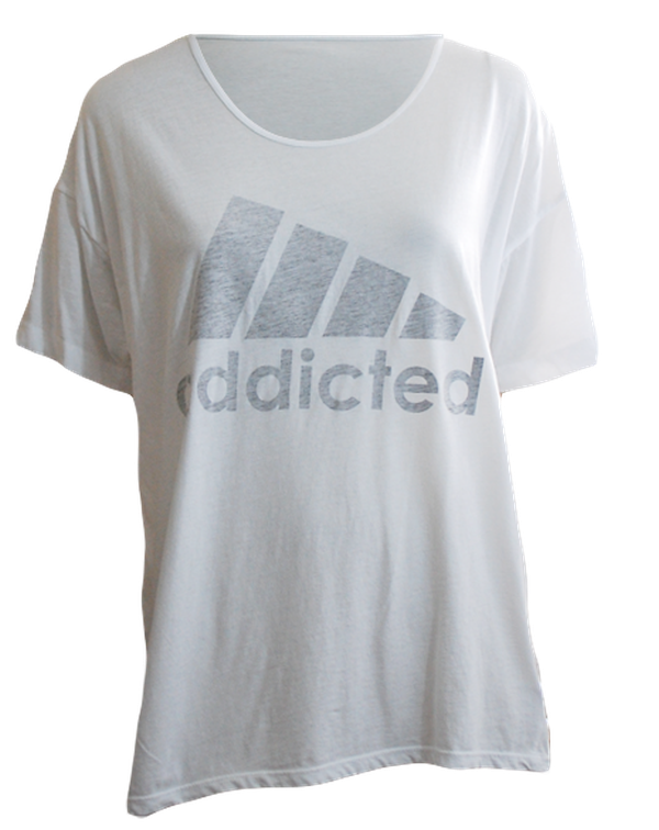 Addicted Distressed Look Tee-Pacific Brandwear-Pacific Brandwear