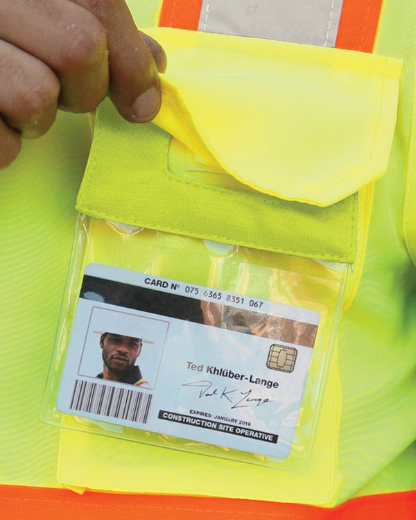 Retractable Clear ID Pocket-ML Kishigo-Pacific Brandwear
