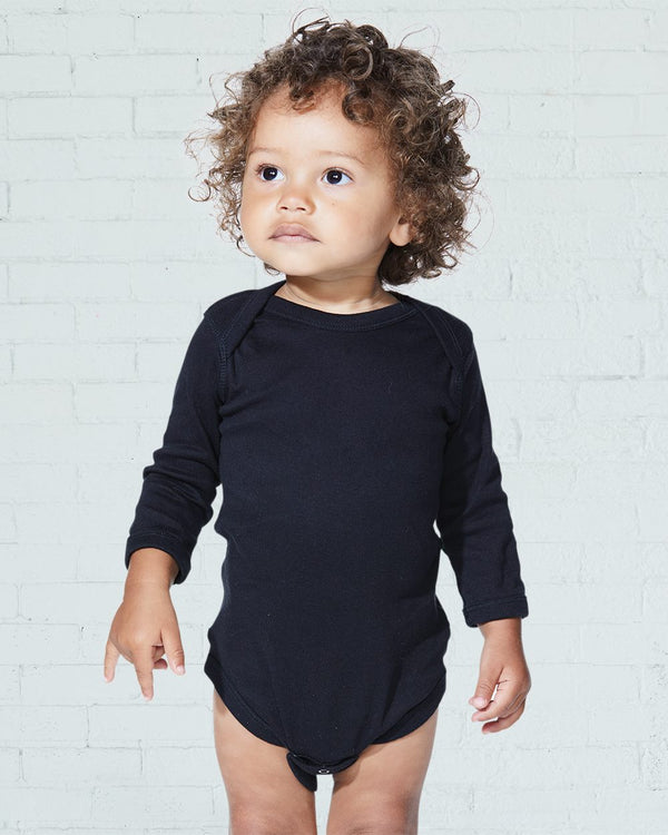 Infant Long sleeve Baby Rib Bodysuit-Rabbit Skins-Pacific Brandwear