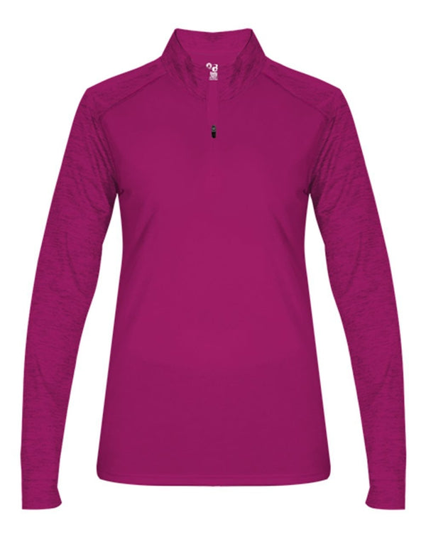 Women's Sport Tonal Blend Quarter-Zip Pullover-Badger-Pacific Brandwear