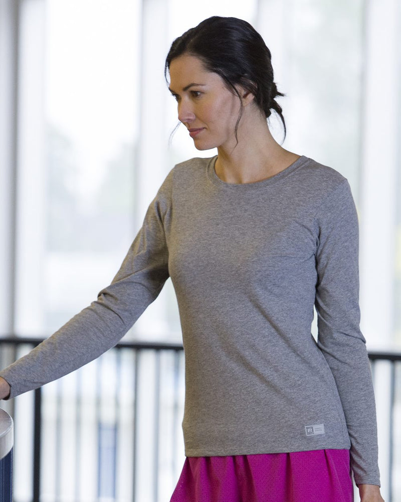 Women's Essential 60/40 Performance Long sleeve T-Shirt-Russell Athletic-Pacific Brandwear