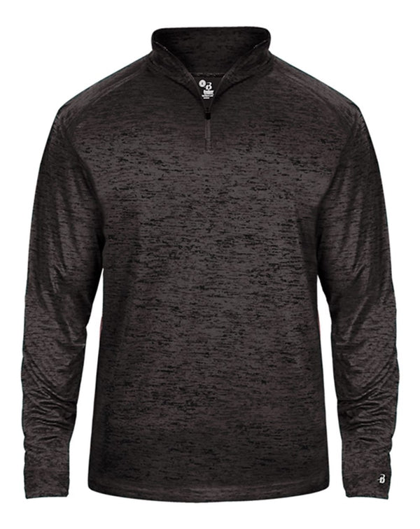 Youth Tonal Blend Quarter-Zip Pullover-Badger-Pacific Brandwear