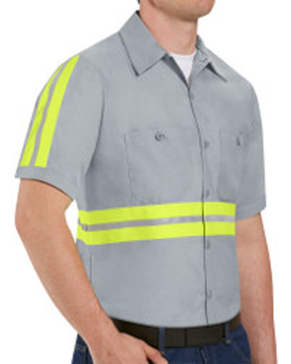 Enhanced Visibility Industrial Work Shirt Long Sizes-Red Kap-Pacific Brandwear