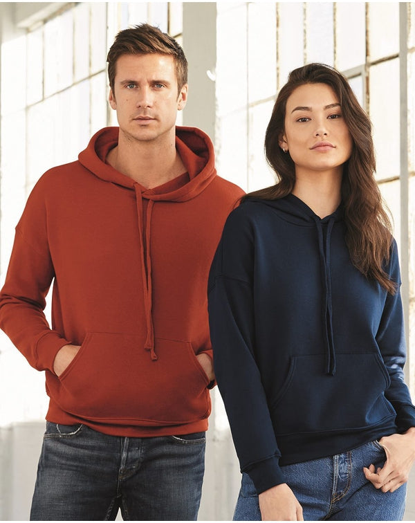 Unisex Sponge Fleece Drop Shoulder Hoodie-BELLA + CANVAS-Pacific Brandwear