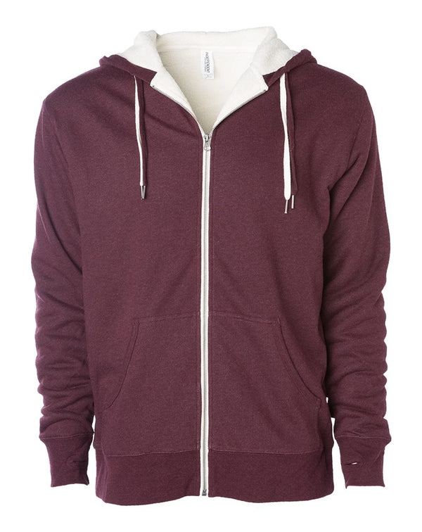 Unisex Sherpa-Lined Hooded Sweatshirt-Independent Trading Co.-Pacific Brandwear