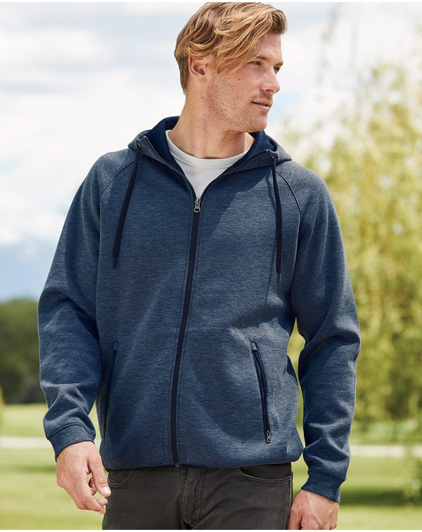Weatherproof Heat Last Fleece Tech Hooded Full-Zip Sweatshirt-Weatherproof-Pacific Brandwear