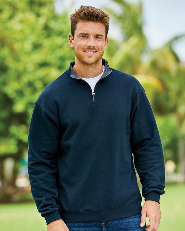 Sofspun Quarter-Zip Sweatshirt-Fruit of the Loom-Pacific Brandwear