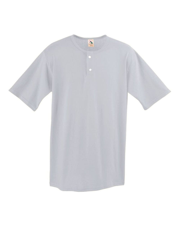 Youth Two-Button Baseball Jersey-Augusta Sportswear-Pacific Brandwear