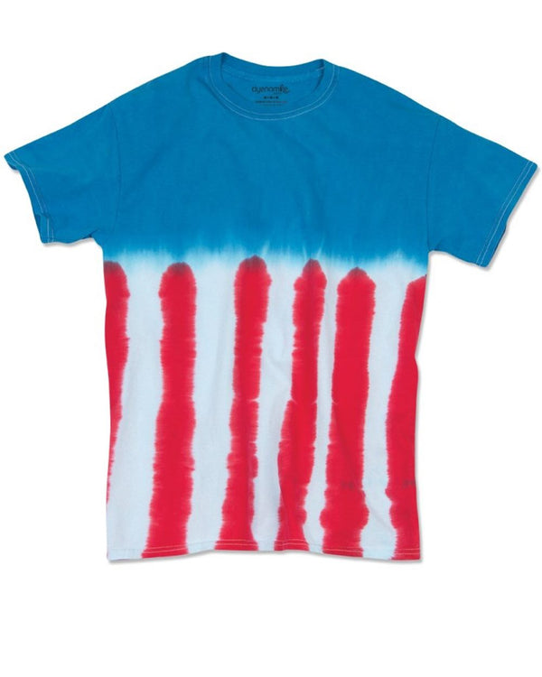 Youth Flag Tie Dye T-Shirt-Dyenomite-Pacific Brandwear