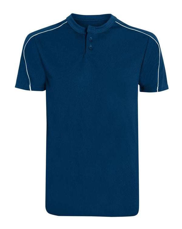 Wicking Two-Button Baseball Jersey-Augusta Sportswear-Pacific Brandwear