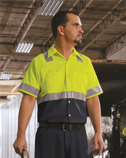 Enhanced & Hi-Visibility Work Shirt-Red Kap-Pacific Brandwear