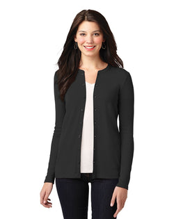 Port Authority® Ladies Concept Stretch Button-Front Cardigan-Port Authority-Pacific Brandwear
