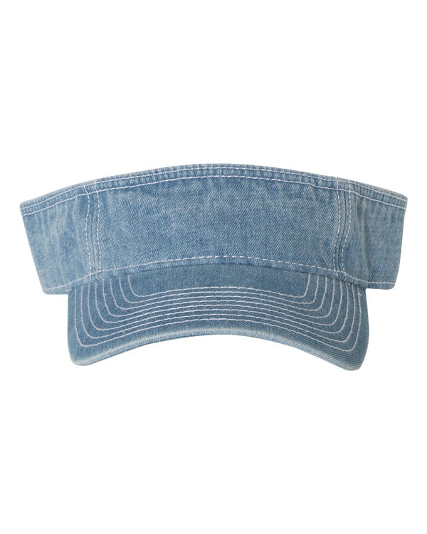 Washed Denim Visor-Mega Cap-Pacific Brandwear