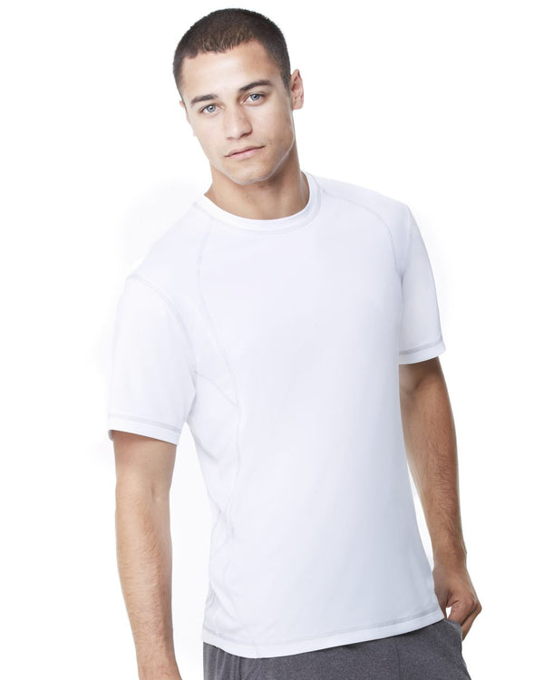 Pieced Interlock T-Shirt-All Sport-Pacific Brandwear