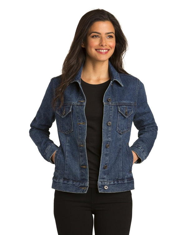 Port Authority® Ladies Denim Jacket-Port Authority-Pacific Brandwear