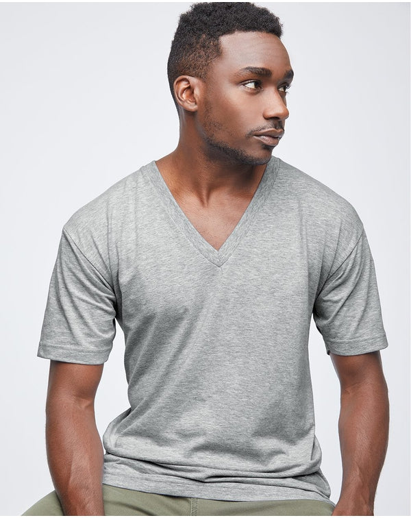 Fine Jersey V-Neck Tee-American Apparel-Pacific Brandwear