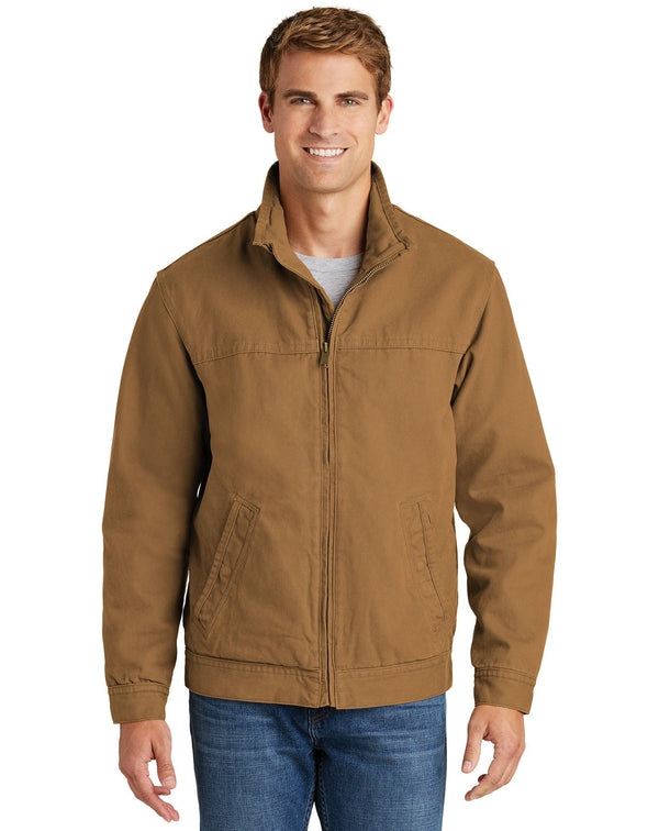 CornerStone® Washed Duck Cloth Flannel-Lined Work Jacket-CornerStone-Pacific Brandwear