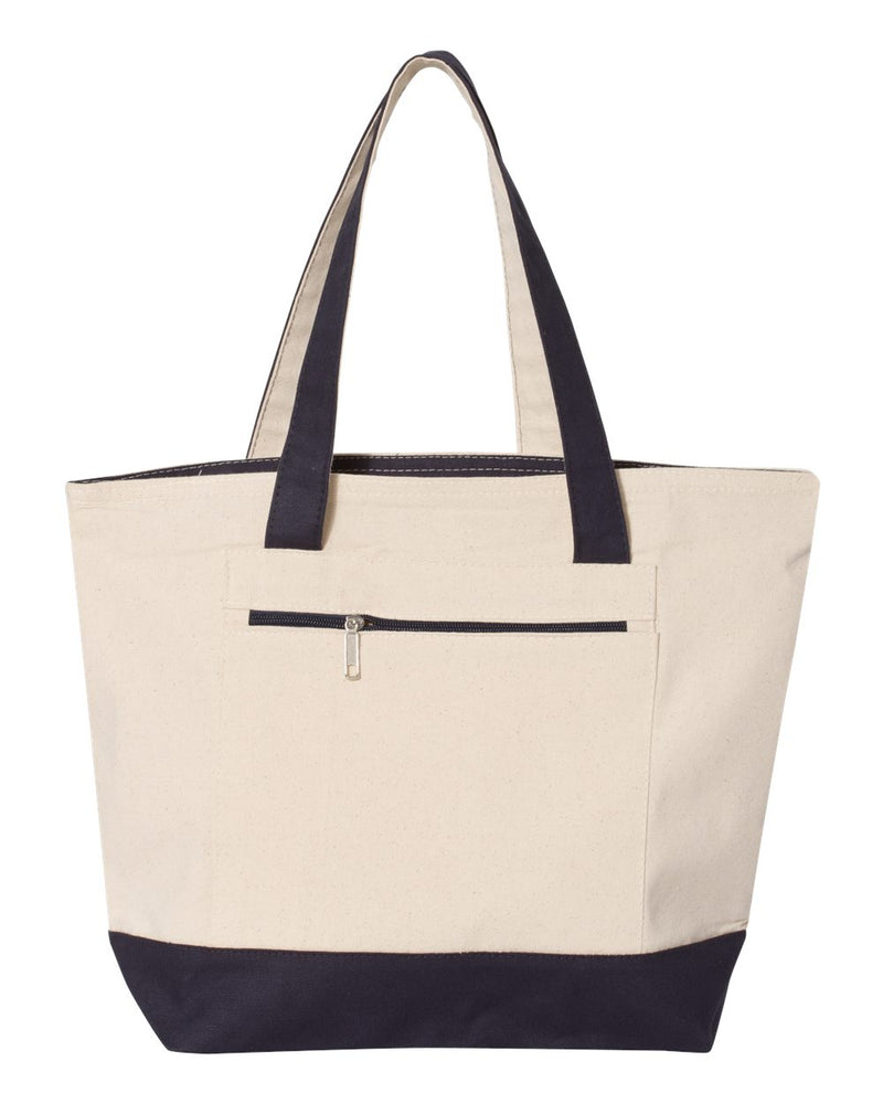 19L Zippered Tote-Q-Tees-Pacific Brandwear