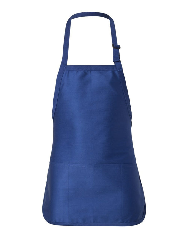 Full-Length Apron with Pouch Pocket-Q-Tees-Pacific Brandwear