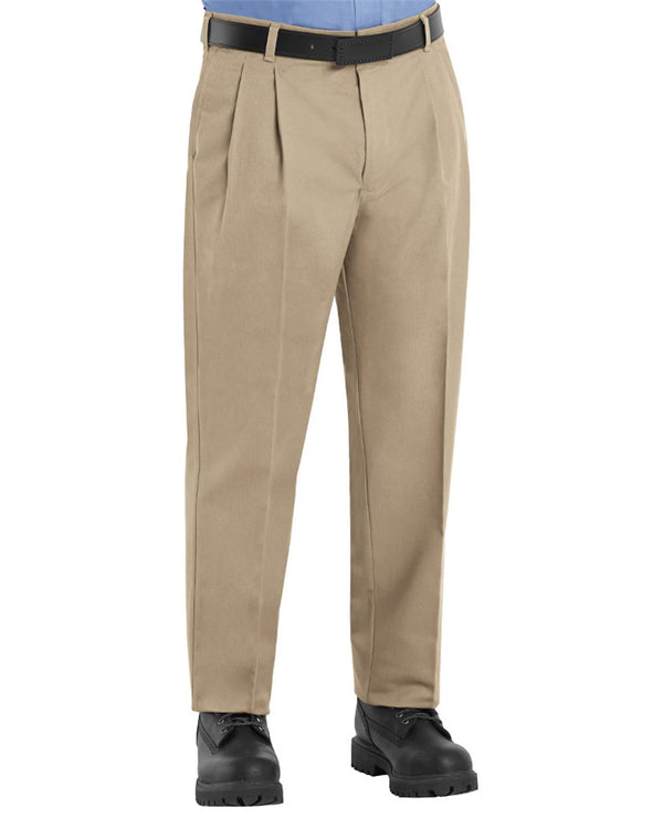 Pleated Twill Slacks - Odd & Extended Sizes-Red Kap-Pacific Brandwear