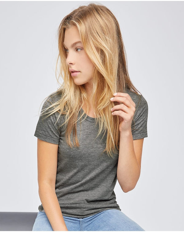 Women's Triblend Track Tee-American Apparel-Pacific Brandwear