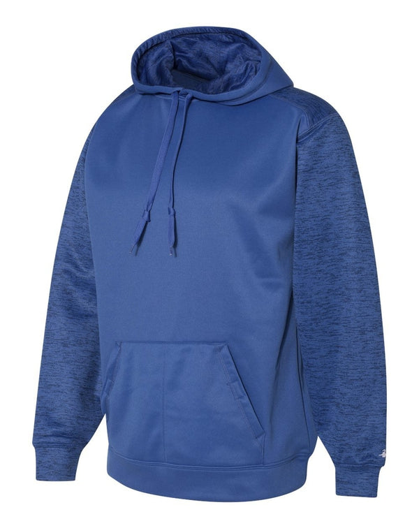 Sport Tonal Blend Fleece Hooded Sweatshirt-Badger-Pacific Brandwear