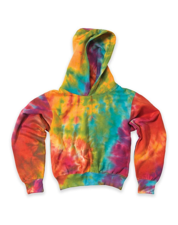 Youth Classic Fleece Tie Dye Hood-MV Sport-Pacific Brandwear