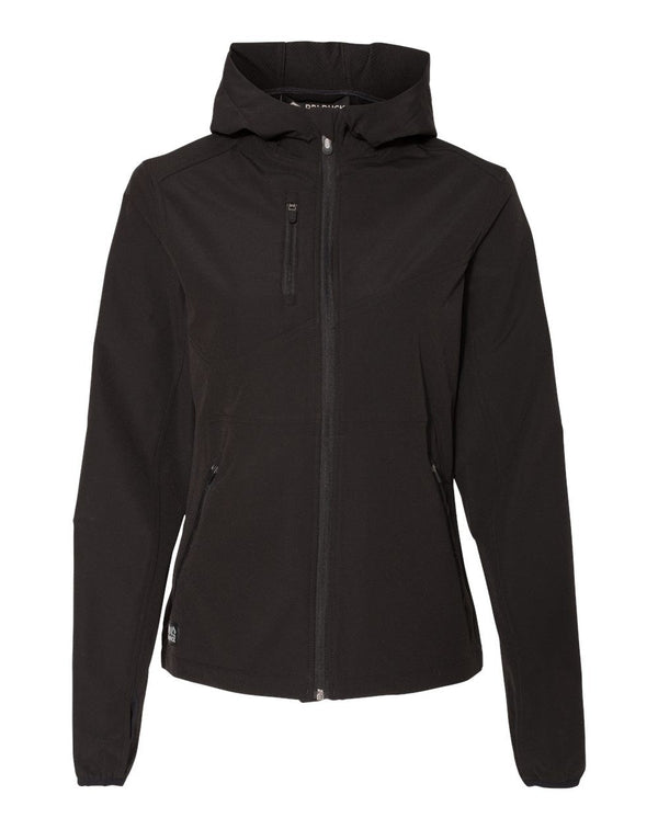 Women's Ascent Soft Shell Hooded Jacket-DRI DUCK-Pacific Brandwear