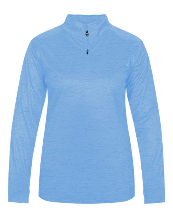Women's Tonal Blend Quarter-Zip Pullover-Badger-Pacific Brandwear