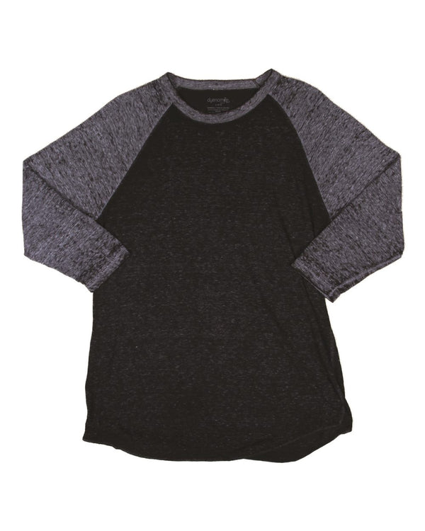 Three Quarter sleeve Raglan Burnout-Dyenomite-Pacific Brandwear