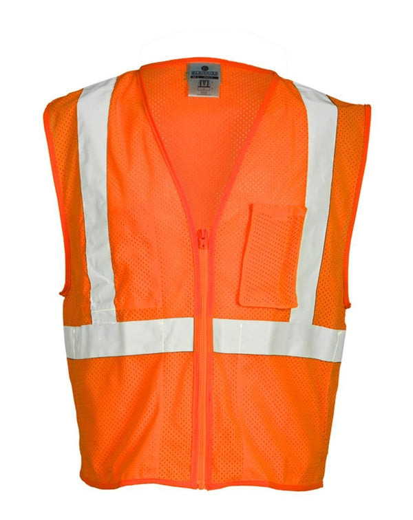 ML Kishigo Self Extinguishing Mesh Vest-ML Kishigo-Pacific Brandwear