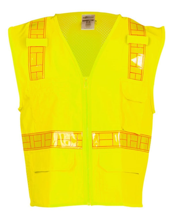 Oralite Solid Front with Mesh Back Vest-ML Kishigo-Pacific Brandwear