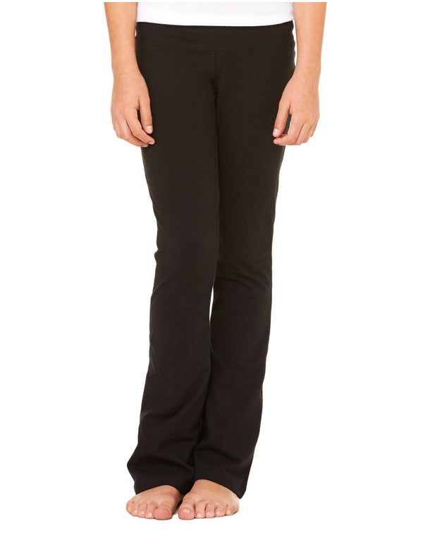 Girls' Cotton Spandex Dance Pants-BELLA + CANVAS-Pacific Brandwear