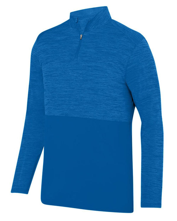 Shadow Tonal Heather Quarter-Zip-Augusta Sportswear-Pacific Brandwear