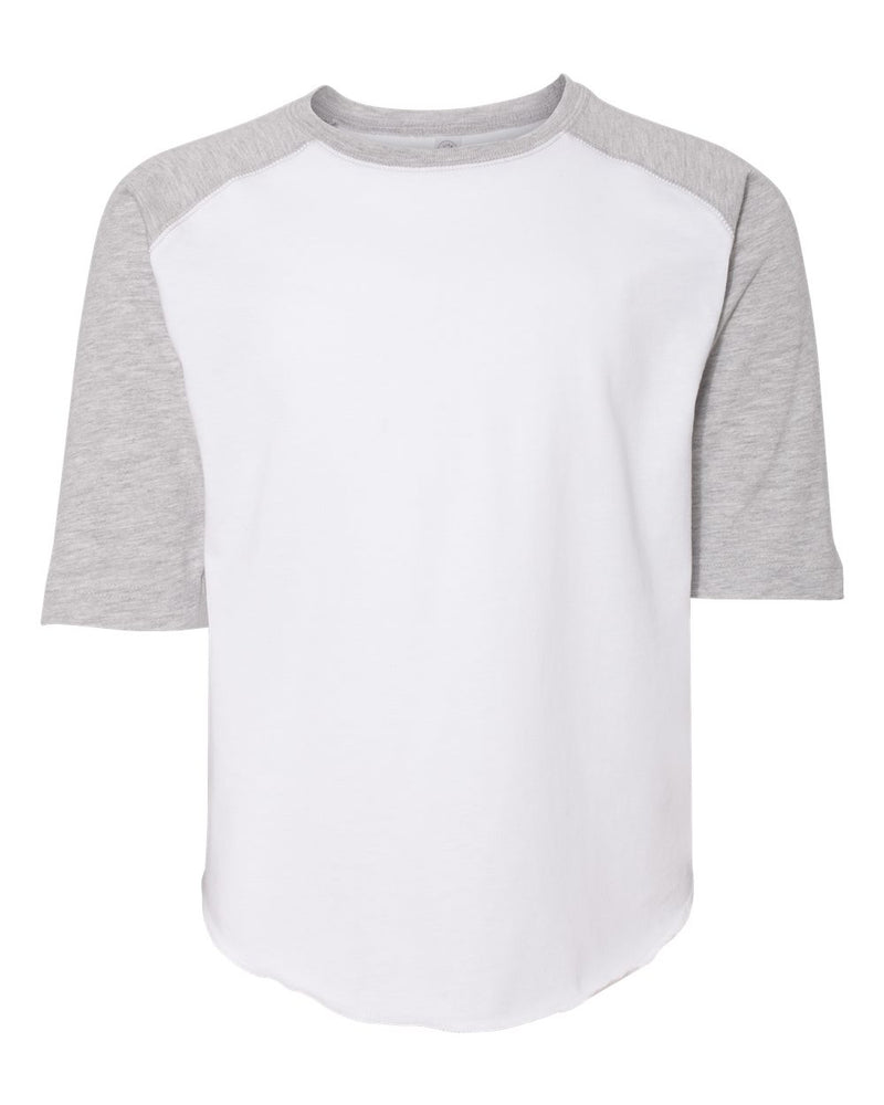 Youth Baseball Fine Jersey Three-Quarter sleeve Tee-LAT-Pacific Brandwear