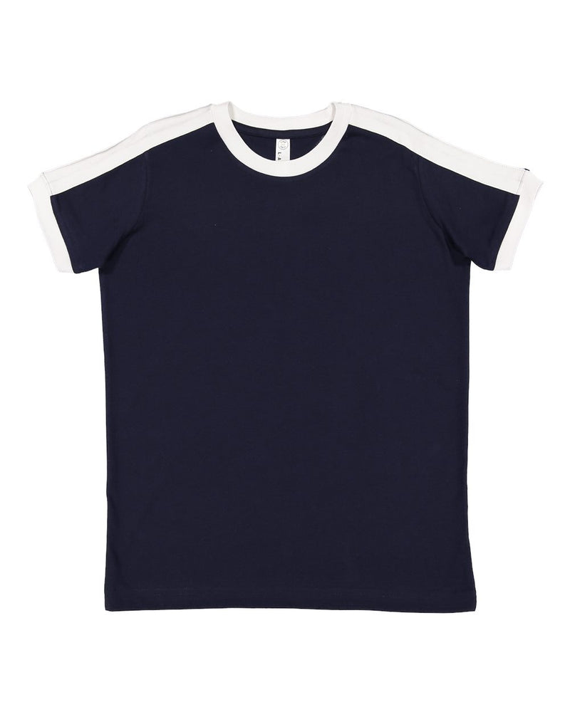 Youth Retro Ringer Fine Jersey Tee-LAT-Pacific Brandwear