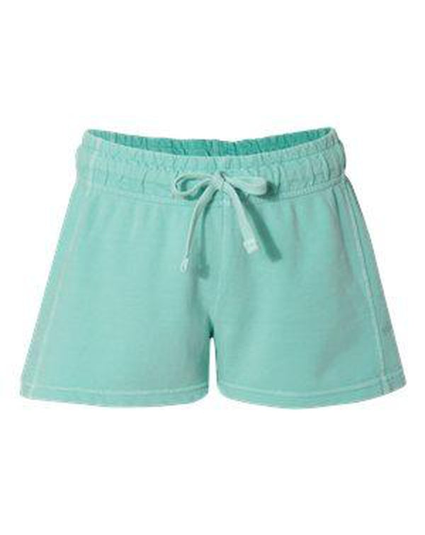 Garment-Dyed Women's French Terry Shorts-Comfort Colors-Pacific Brandwear