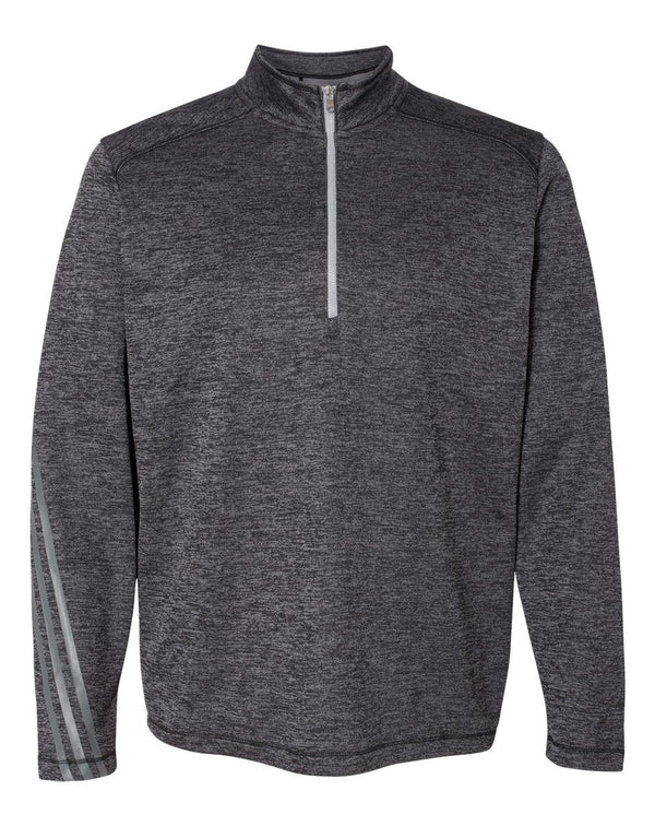 Brushed Terry Heathered Quarter-Zip Pullover-Adidas-Pacific Brandwear