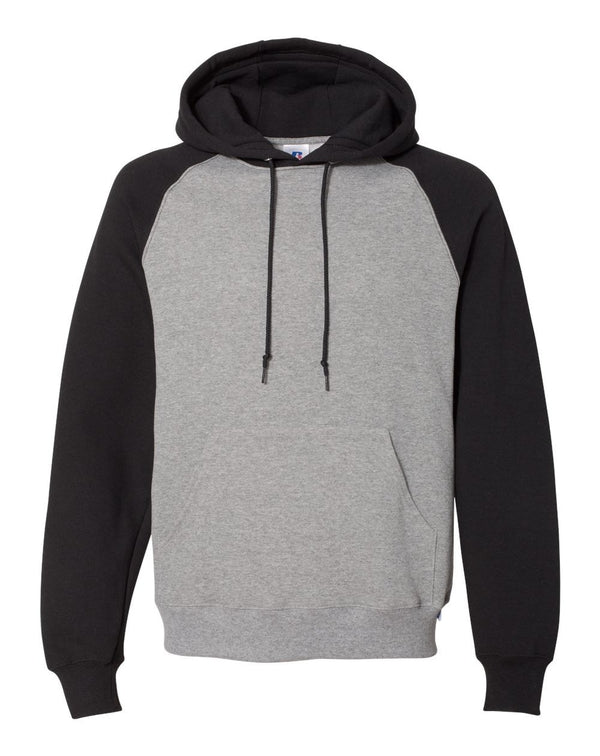 Dri Power Colorblock Raglan Hooded Sweatshirt-Russell Athletic-Pacific Brandwear