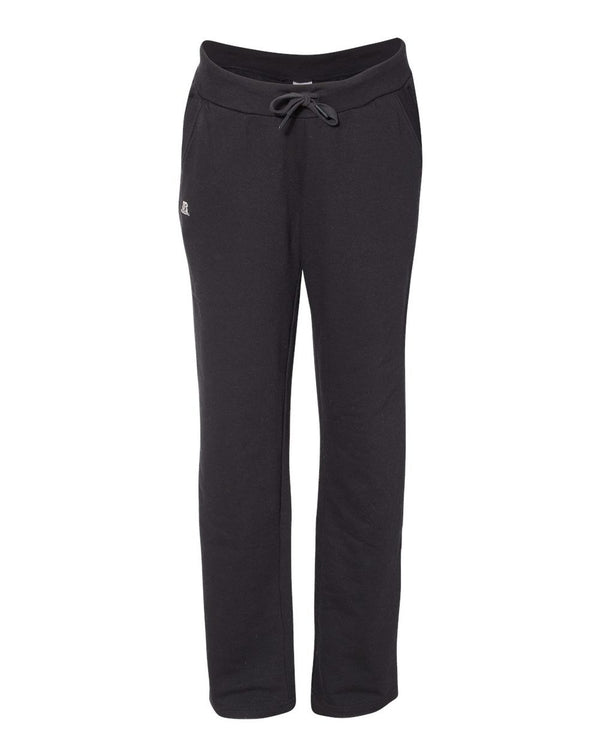Women's Lightweight Open Bottom Sweatpants-Russell Athletic-Pacific Brandwear