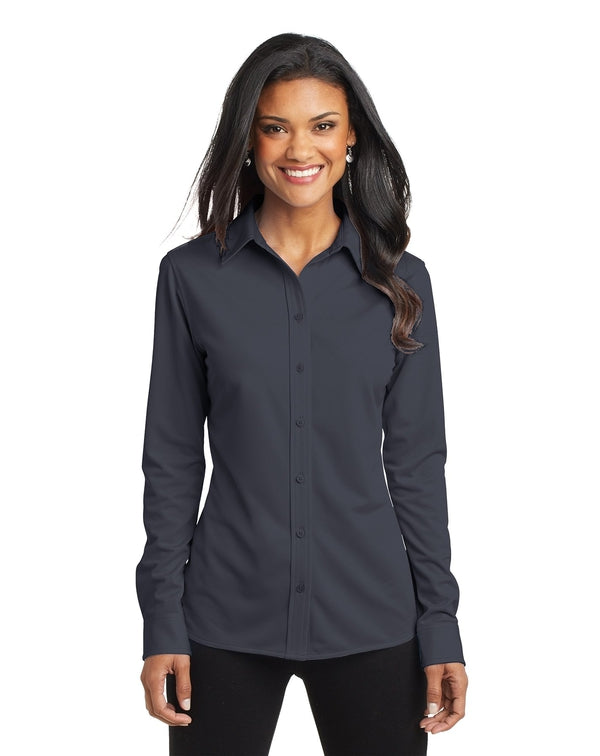 Port Authority® Ladies Dimension Knit Dress Shirt-Port Authority-Pacific Brandwear