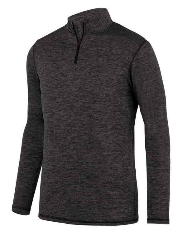 Youth Intensify Black Heather Quarter-Zip Pullover-Augusta Sportswear-Pacific Brandwear
