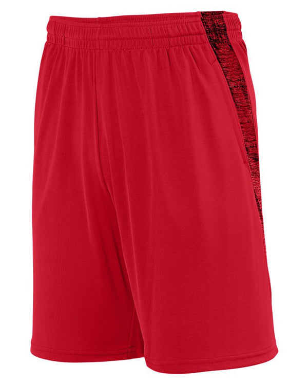 Youth Intensify Black Heather Training Shorts-Augusta Sportswear-Pacific Brandwear