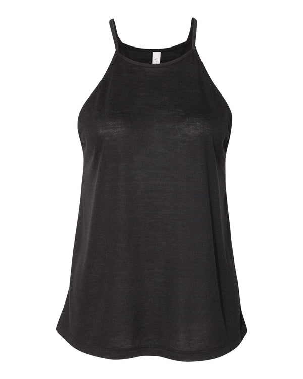 Women's Flowy High-Neck Tank-BELLA + CANVAS-Pacific Brandwear