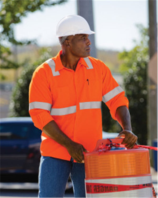 High Visibility Work Shirt Tall Sizes-Red Kap-Pacific Brandwear