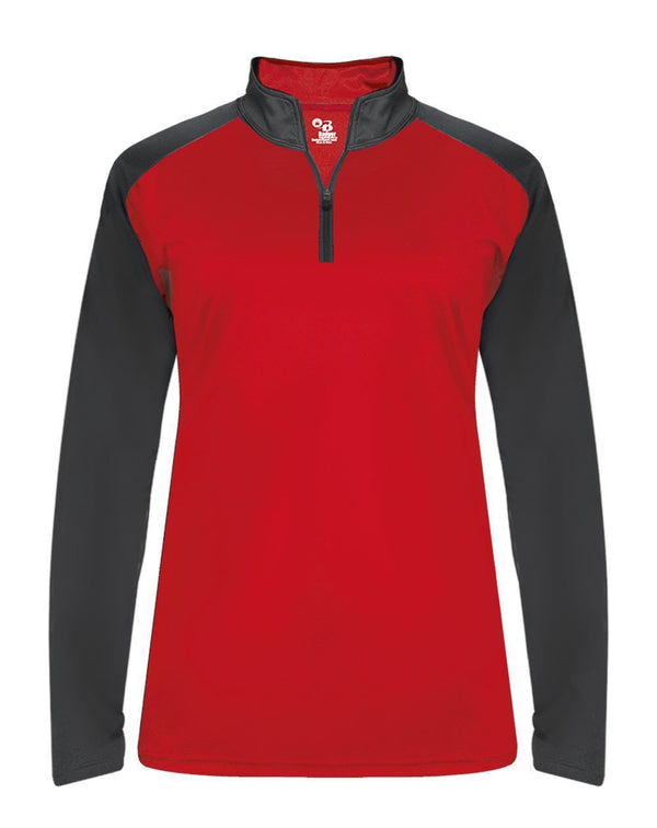 Ultimate SoftLock Women's Sport Quarter-Zip Pullover-Badger-Pacific Brandwear