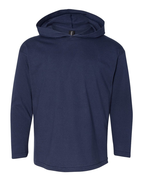 Youth Hooded Long sleeve T-Shirt-Anvil-Pacific Brandwear