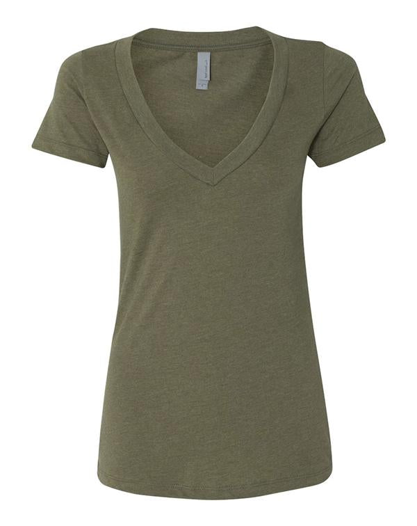 Next Level Women's CVC Short Sleeve Deep V-Next Level-Pacific Brandwear